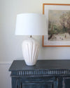 Vintage Art Deco Style Ceramic Shell Lamp