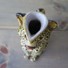 Vintage Italian Terracotta Leopard Pitcher top