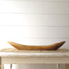 Long Carved Teak Wood Bowl