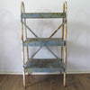 Vintage Industrial Metal Shelving Unit back view