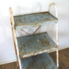 Vintage Industrial Metal Shelving Unit top view
