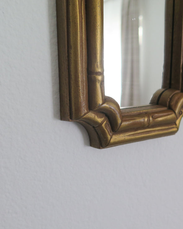 Vintage Homco Faux Bamboo Mirrors close up