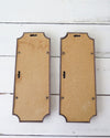 Vintage Homco Faux Bamboo Mirrors back view