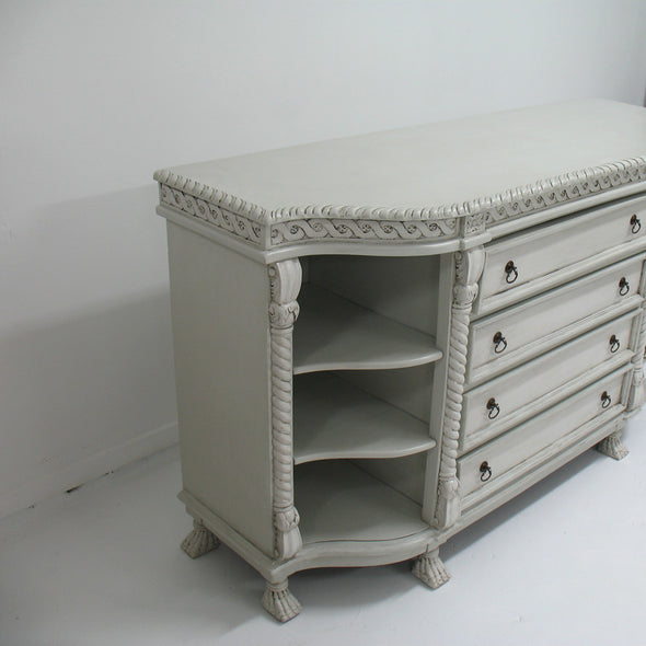 Painted Buffet/Server with Lions Feet side view