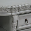 Painted Buffet/Server with Lions Feet close up
