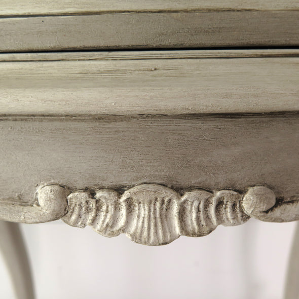 Vintage French Provincial Side Tables close up