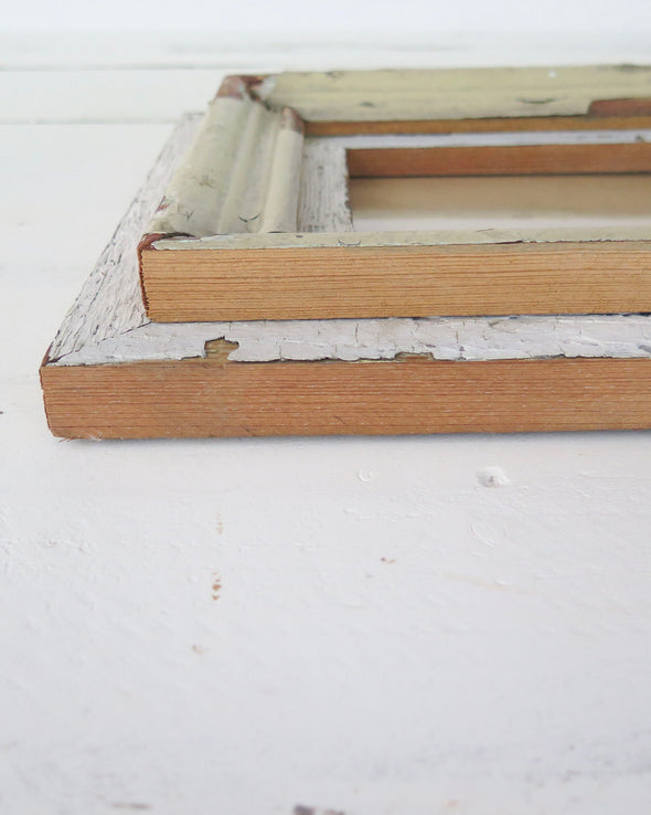 Rustic Reclaimed Wood Photo Frame, 5 x 7 close up