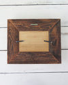 Rustic Reclaimed Wood Photo Frame, 5 x 7 back view