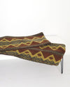Brown and Gold Geometric Lumbar Pillows 15 x 36