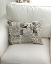 French Postage Print Pillow 16 x 20 pair
