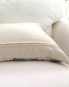 French Postage Print Pillow back