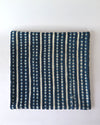 Vintage Indigo Mali Pillow 20 x 20, Authentic Burkina Faso Textile