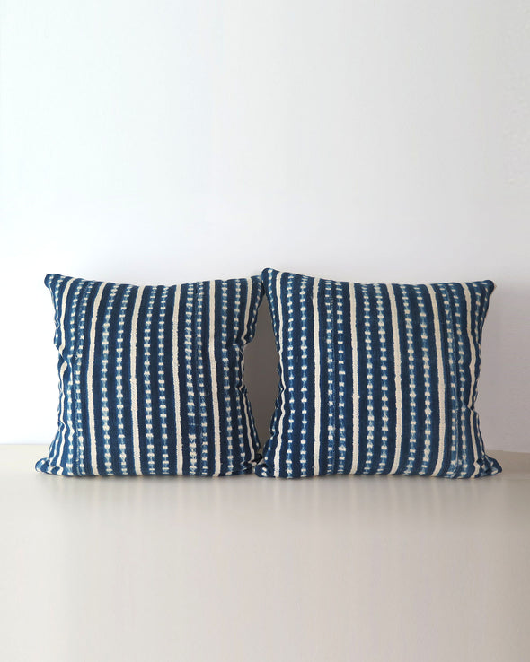 pair of Indigo Pillows