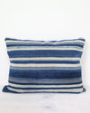 Vintage Burkina Faso Striped Pillow