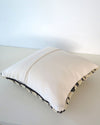 Vintage Black and Cream Moroccan Wool Pillowback cover