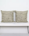 French Script Pillow Covers 20 x 20