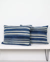 Vintage Burkina Faso Striped Pillows