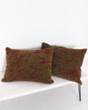 Vintage Italian Fabric Pillow Pair 19 x 25