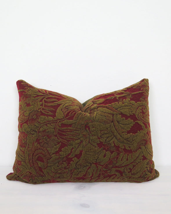 Vintage Italian Fabric Pillow 19 x 25
