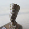 Vintage Queen Nefertiti Bronze Ash Tray closeup