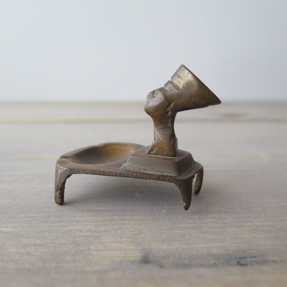 Vintage Queen Nefertiti Bronze Ash Tray