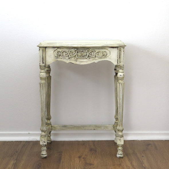 Small Painted Antique Side Table
