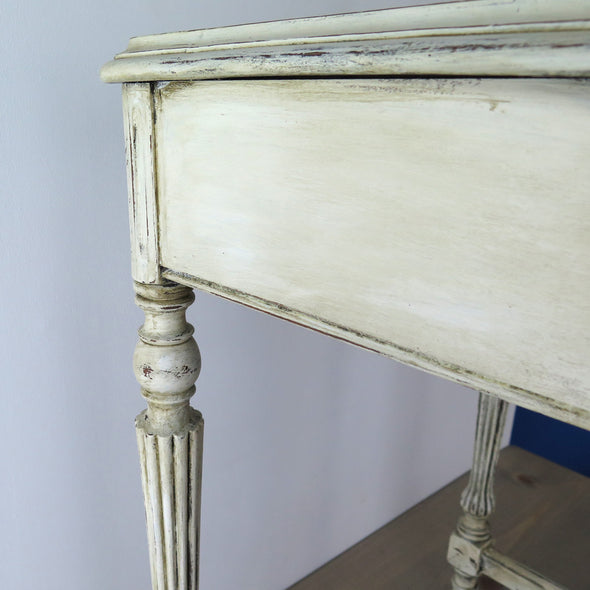 Small Painted Antique Side Table side
