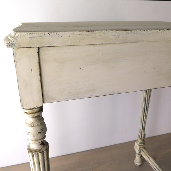Small Painted Antique Side Table back