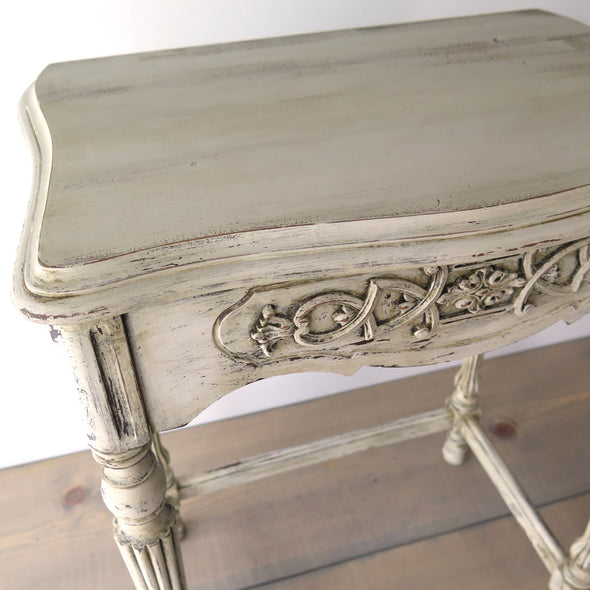 Small Painted Antique Side Table top