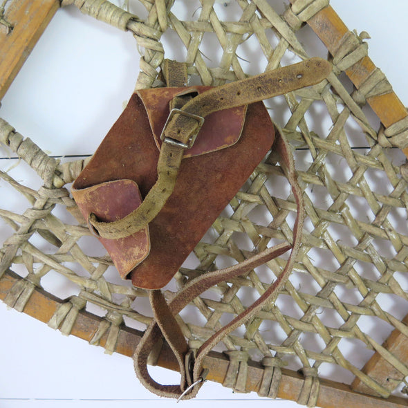 Vintage Canadian Snowshoes close up