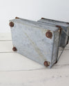 Rustic 2 Tier Galvanized Zinc Tray bottom