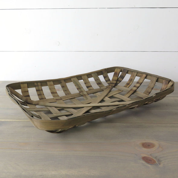 Vintage Inspired Tobacco Basket