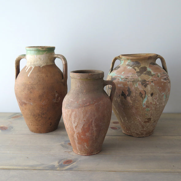 Turkish terracotta jars