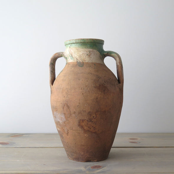 Turkish two handled terracotta jar