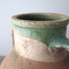 Turkish two handled terracotta jar close up