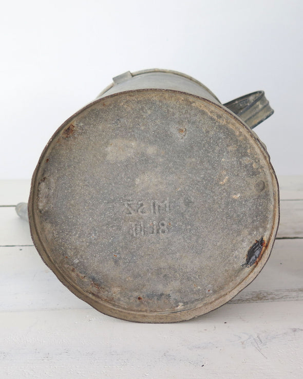 Vintage Zinc Water Can bottom