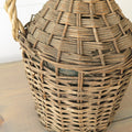 Vintage Wicker Demijohn close up
