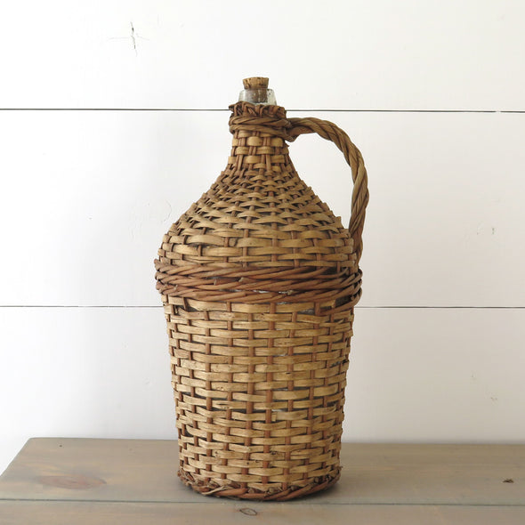 Wicker Demijohn Bottle