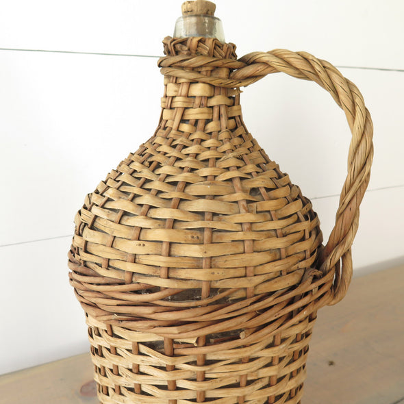 Wicker Demijohn Bottle close up