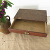 Vintage Cardboard File Box with Wood Front Drawers inside