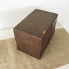 Vintage Cardboard File Box with Wood Front Drawers side