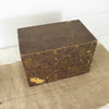 Vintage Cardboard File Box with Wood Front Drawers back