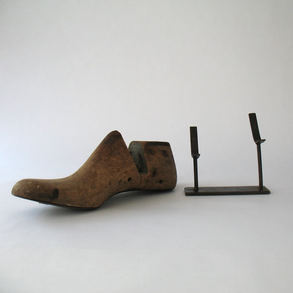 Vintage Cobbler Shoe Mold on Stand