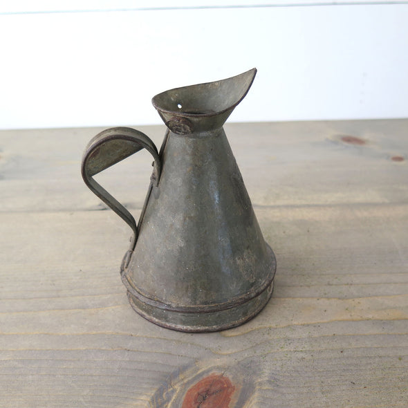 Reclaimed Small Zinc Pitcher