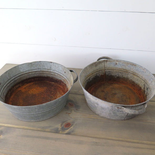 Galvanized Zinc Tubs