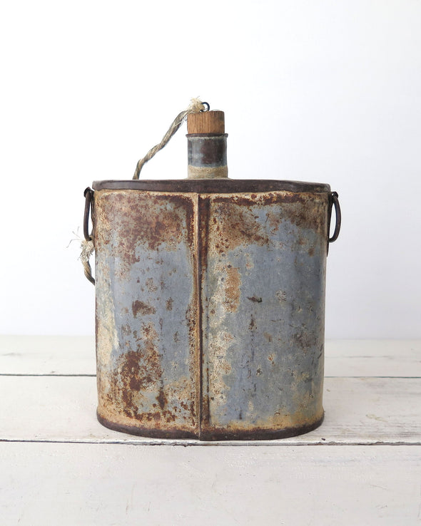 Vintage Inspired Metal Container