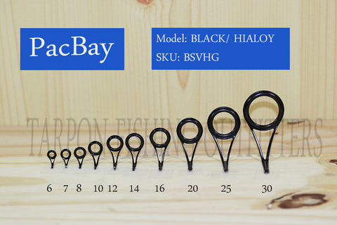 PacBay   MODEL SV - CERAMIC RINGS ONE PIECE STAMPED FRAME GUIDES