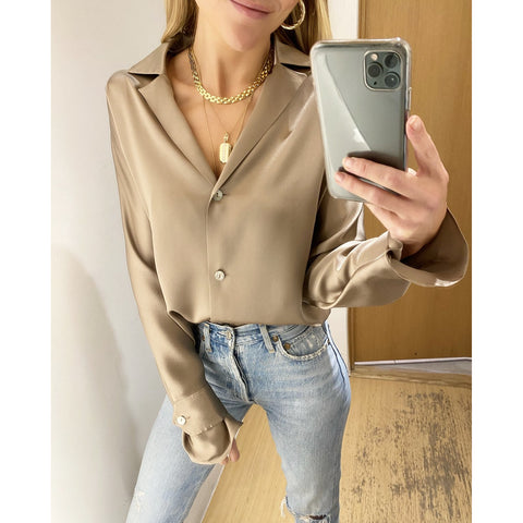 SABLYN PRESLEY BLOUSE IN TAUPE