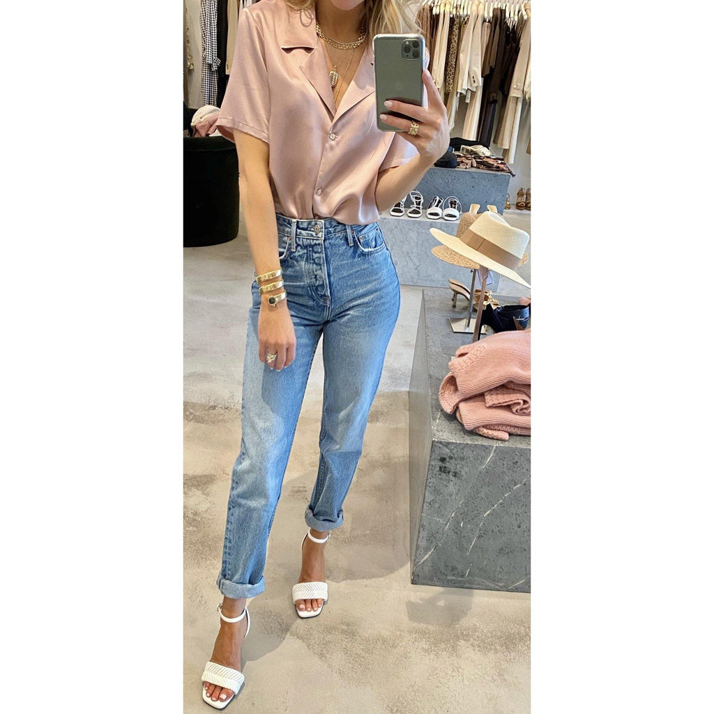 GRLFRND DEVON HIGH WAIST ANKLE BOYFRIEND JEANS - SWITCH BOUTIQUE