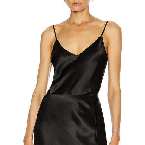 SABLYN GLORIA SILK TANK IN BLACK - SWITCH BOUTIQUE